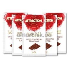 Лубрикант с феромонами Attraction Chocolate - шоколад, 10 мл - Фото №1