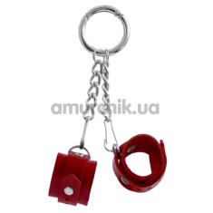Брелок Feral Feelings наручники, красный - Фото №1