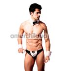 Костюм официанта JSY Sexy Lingerie SO2297 чёрно-белый: трусы + галстук + манжеты - Фото №1