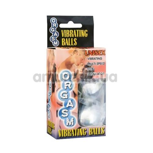 Вагинальные шарики с вибрацией Orgasm Vibrating Balls серебряные