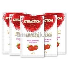 Лубрикант с феромонами Attraction Strawberry - клубника, 10 мл - Фото №1