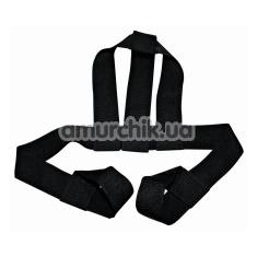 Фиксатор для орального секса Bad Kitty Naughty Toys Head Harness With Loop Handles, черный - Фото №1