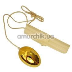Вибратор-яйцо Egg Vibrator Silber золотое - Фото №1