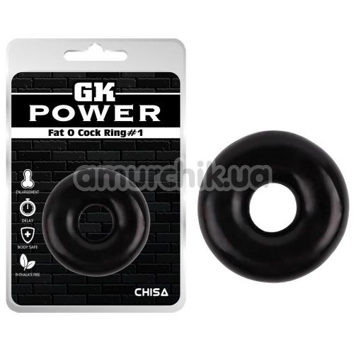 Эрекционное кольцо GK Power Fat O Cock Ring No.1, черное