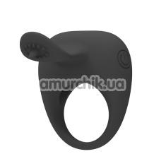 Виброкольцо Pretty Love Stimulating Tonguo, черное - Фото №1