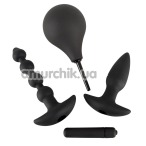 Набор из 4 предметов Black Velvets Anal Kit, черный