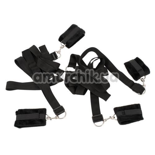 Бондажный набор Bad Kitty Naughty Toys Bed Shackles, черный - Фото №1