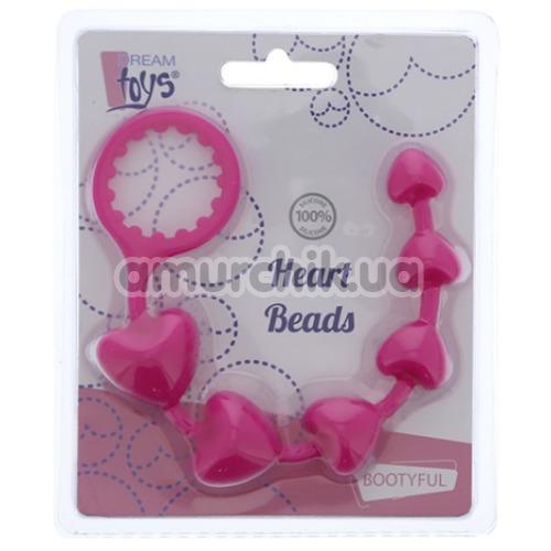Анальная цепочка Bootyful Heart Beads, розовая