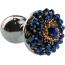 Анальная пробка с синими кристаллами Seamless Butt Plug Starting Silver Metal S, серебряная - Фото №2