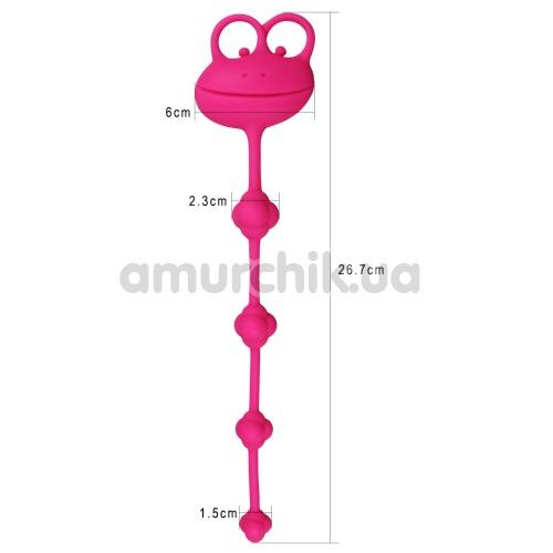 Анальная цепочка Lovetoy Psyches Premium Anal Beads, розовая