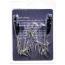 Зажимы для сосков с цепочкой и шипами Lucky Bay Nipple Play Chain and Spike, серебряные - Фото №2