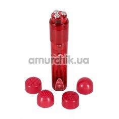 Клиторальный вибратор Vibrant Portable Vibrator, красный - Фото №1