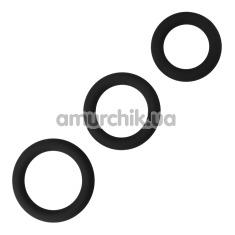 Набор эрекционных колец Power Plus Cock Ring Series, черный