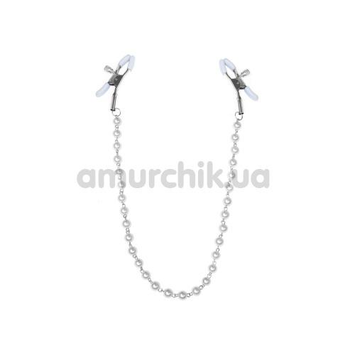 Зажимы для сосков Feral Feelings Nipple Clamps Pearls, белые