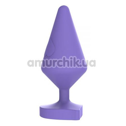 Анальная пробка MisSweet Luv Heart Plug Large, фиолетовая - Фото №1