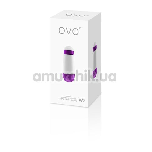 Клиторальный вибратор OVO W2, бело-фиолетовый