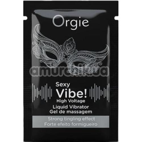 Возбуждающий гель с эффектом вибрации Orgie Sexy Vibe High Voltage Liquid Vibrator, 2 мл