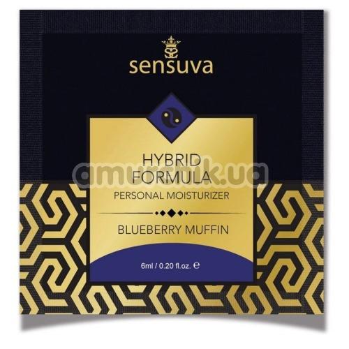 Лубрикант Sensuva Hybrid Formula Blueberry Muffin - черничный кекс, 6 мл