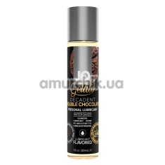 Оральный лубрикант JO Gelato Decadent Double Chocolate - двойной шоколад, 30 мл - Фото №1