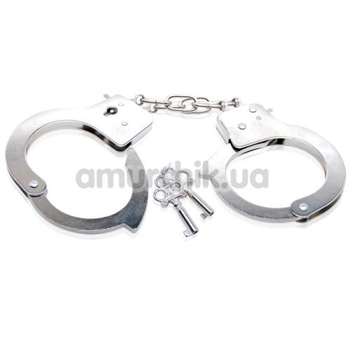 Наручники Beginner's Metal Cuffs, серебрянные