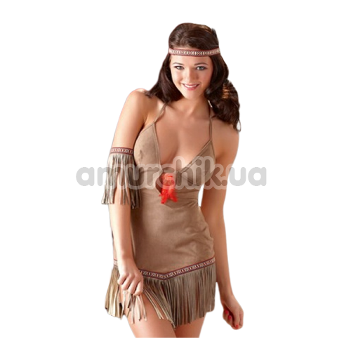 Костюм индианки Cottelli Collection, коричневый - Фото №1