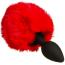 Анальная пробка с красным хвостиком Loveshop S, черная - Фото №1