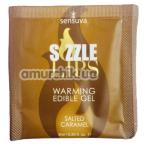 Оральный гель с согревающим эффектом Sensuva Sizzle Lips Salted Caramel - соленая карамель, 6 мл - Фото №1