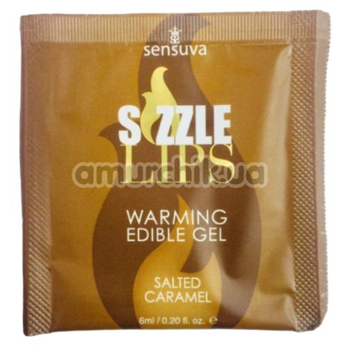Оральный гель с согревающим эффектом Sensuva Sizzle Lips Salted Caramel - соленая карамель, 6 мл