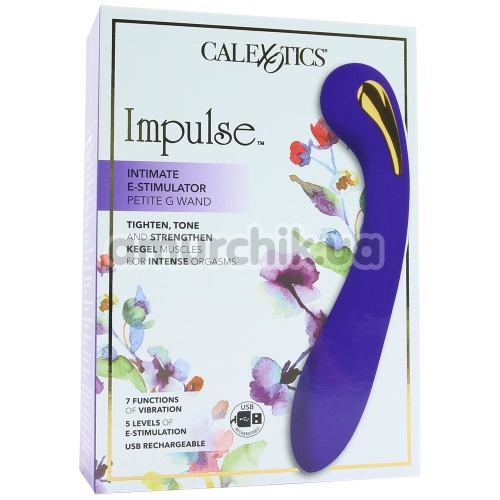 Вибратор для точки G с электростимуляцией Impulse Intimate E-Stimulator Petite G Wand, фиолетовый