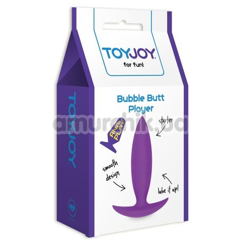Анальная пробка Bubble Butt Player Starter, фиолетовая