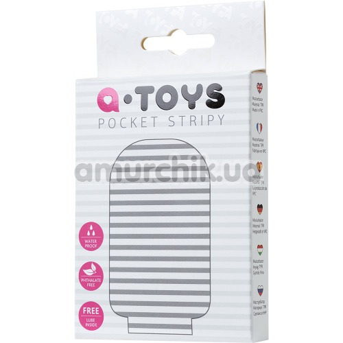 Мастурбатор A-Toys Pocket Stripy, белый