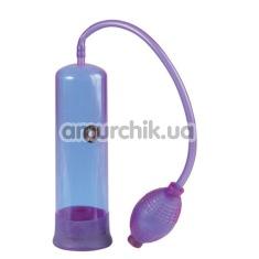 Вакуумная помпа E-Z Penis Pump, фиолетовая - Фото №1
