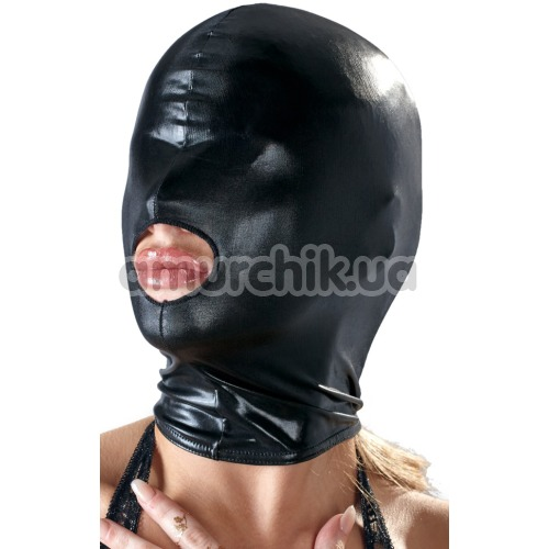 Маска Bad Kitty Naughty Toys Hood Mouth Mask, черная
