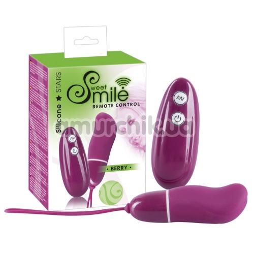 Виброяйцо Smile Remote Control Berry, розовое