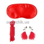 Бондажный набор Fetish Fantasy Lover's Bondage Kit, красный