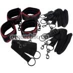 Бондажный набор Scandal Bed Restraints, черный - Фото №1