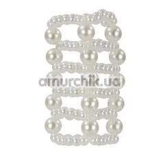 Насадка на пенис Basic Essentials Pearl Stroker Beads Large - Фото №1