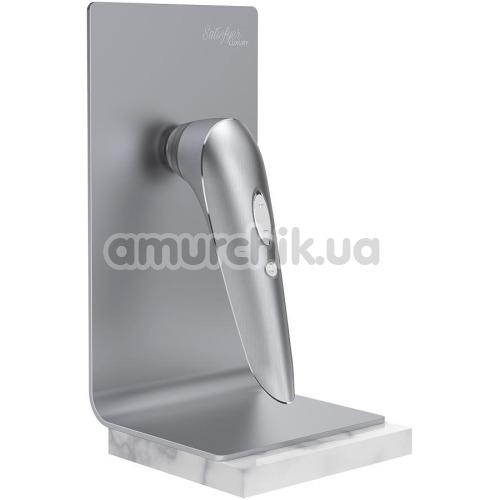 Симулятор орального секса с вибрацией для женщин Satisfyer Luxury High Fashion, серебряный
