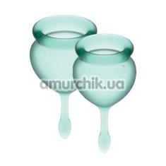 Набор из 2 менструальных чаш Satisfyer Feel Good, зеленый - Фото №1
