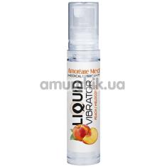Лубрикант с эффектом вибрации Amoreane Med Liquid Vibrator Peach - персик, 10 мл - Фото №1