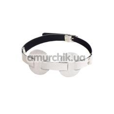 Маска на глаза sLash SUB Leather Mask, белая