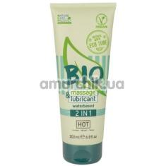 Лубрикант органический Hot Bio Massage & Lubricant, 200 мл - Фото №1