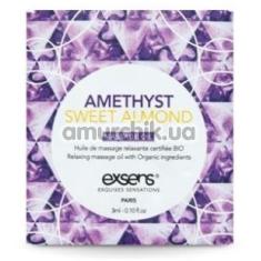 Массажное масло Exsens Amethyst Sweet Almond - аметист и миндаль, 3 мл - Фото №1