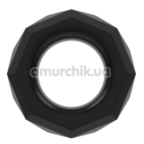Эрекционное кольцо Power Plus Cock Ring Series LV1434, черное - Фото №1