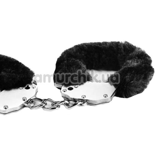Наручники Fetish Pleasure Fluffy Handcuffs, черные