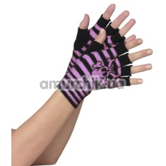Перчатки Acrylic Skull And Crossbone Fingerless Gloves - Фото №1