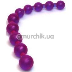 Анальные бусы Jumbo Jelly Thai Beads фиолетовые - Фото №1
