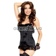 Купить Комплект Iria черный: корсет + трусики-стринги