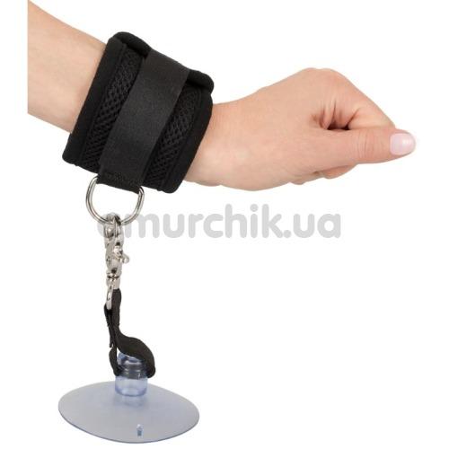 Фиксаторы для рук с присосками Bad Kitty Naughty Toys Restraints Cuffs, черные