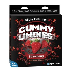 Съедобные мужские трусики Edible Crotchless Gummy Panties, клубника - Фото №1